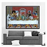 Hip Hop Music Rapper Star Legend The Last Supper Art Painting Canvas Poster And Prints Wall Pictures For Living Room Home Decor-60x80cm No Frame
