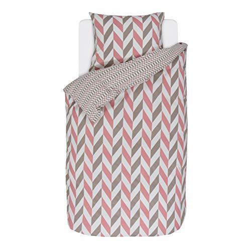 ESPRIT Flanell Bettwäsche Criss Cross pink 1 Bettbezug 135x200 cm + 1 Kissenbezug 80x80 cm
