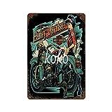 XREE Medias atractivas para motocicleta, coche de carreras (87) Art Tin Sign vintage accesorios para el hogar displate Tin signos retro placas de metal pintura hierro Rusty Poster 30 x 40 cm