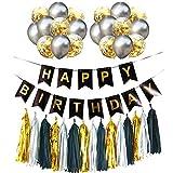 Guirlande Joyeux Anniversaire Paillettes Joyeux Anniversaire Guirlande Ballons Bannières Ensemble Bannière Signe Joyeux Anniversaire Pour Anniversaire Enfants Fêtes Décorations Accessoires 36 Pièces