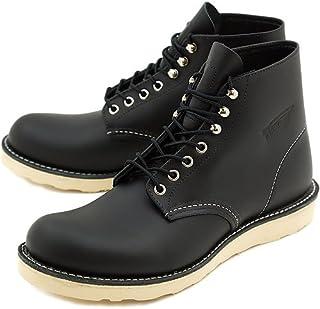 [レッドウィング] クラシック ワークブーツ 6インチ ラウンドトゥ/プレーントゥ REDWING 8165 CLASSIC WORK BOOTS BLACK CHROME 靴