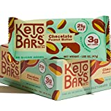 KETO BARS : The Original High Fat, Low Carb, Ketogenic Bar. Gluten Free, Vegan, Homemade with simple ingredients. [Chocolate Peanut Butter, 10 Pack]