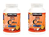 Kirkland Vitamin C (500 mg), 500-Count, Tangy Orange, Chewable Tablets (2 Bottles)