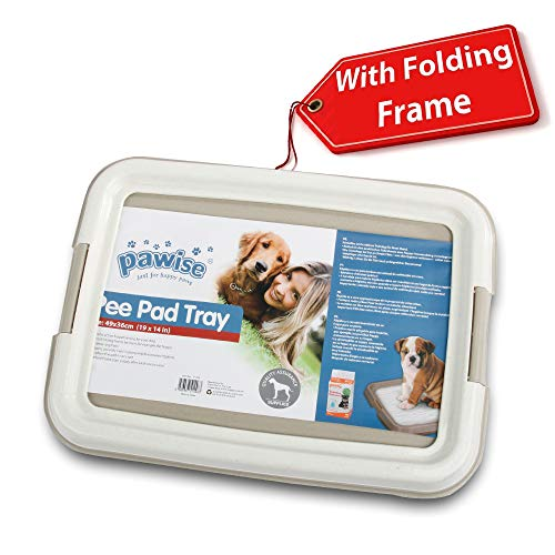 """PAWISE Pee Pad Holder - Puppy Training Pads - Best Portable Potty Trainer - Indoor Dog Potty - Puppy Essentials - Dog Training Holder - Puppy Pad Holder (19.2""""x14"""")"""
