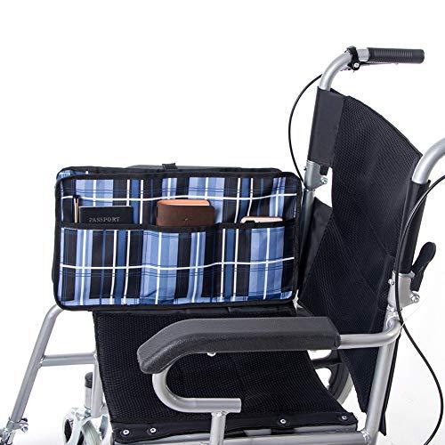 Fushida Wheelchair Side Bag,Walker Rollator Storage Bags Waterproof,Rollator Large Capacity Organizer Hands Free Storage Tote Bag for Disabled Seniors, GJ189