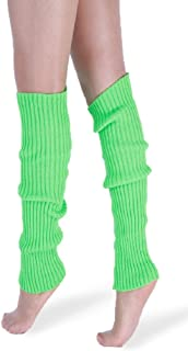 Retro Unisex Adult Junior Ribbed Knitted Leg Warmers
