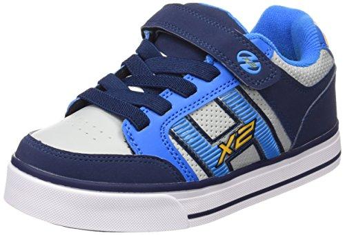 Heelys Bolt Plus 770566, Jungen Lauflernschuhe Sneakers , Mehrfarbig - multi (Navy/New Blue/Lunar Grey) - Größe: 34