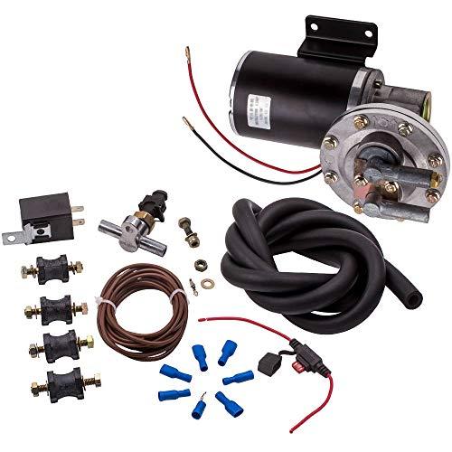 maXpeedingrods Electric Vacuum Pump Kit Set for Brake Booster 12 Volt 18' to 22' 28146