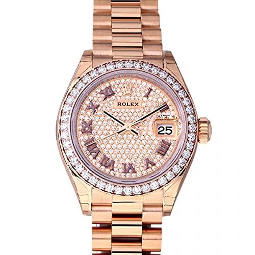 ロレックス ROLEX デイトジャスト 279135RBR 全面ダイヤ文字盤 腕時計 レディース (W209378) [並行輸入品]