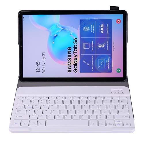 Banaz HNZZ - Funda para teclado Bluetooth A860 desmontable para Samsung Galaxy Tab S6 10.5' T860/T865, con banda elástica para soporte de bolígrafo (color: oro rosa)
