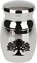 Prettyia Stainless Steel Tree of Life Cremation Urn Ash Memorial Pet Ushes Container Jar Keepsake Jewlery