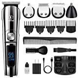 Ceenwes Beard Trimmer Hair Clippers Professional Mens Grooming Kit Cordless Waterproof Nose Trimmer Body gifts for men