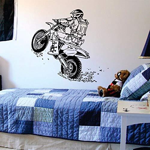 ASFGA Outdoor Sport Sport Wand Vinyl Kunst Aufkleber geeignet für Kinderzimmer Junge Home Dekoration Rennsport Wandbild 75x80cm