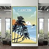 zuomo Cancun Travel Poster, Cancun Travel Print, Cancun