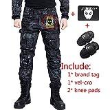 Pantalon de combat BDU de paramilitaire, Pantalon avec genouillères Typhon Kryptek Typ pour tactique militaire armée Airsoft Paintball moyen Typhon Kryptek