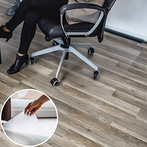 Profolio Bodenschutzfolie transparent zum aufkleben | Premium Qualität für Hartböden | größe Wählbar | Bodenschutzmatte für Parkett, Laminat uvm. | Made in Germany | 40 x 120 cm