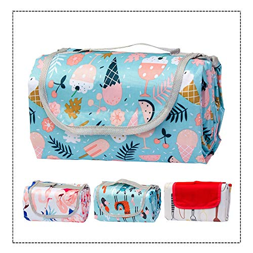 Waterproof & Sandproof Beach Picnic Blanket, Extra Large Outdoor Blanket Mat for Camping & Picnics, Machine Washable for Kids, Extra Large Compact Foldable Portable Family Picnic Blanket