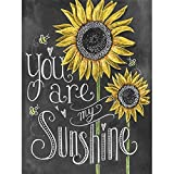 SKRYUIE 5D Sunflower Diamond Painting Letter Full Drill You are My Smile by Number Kits, Paint with Diamonds Embroidery Set DIY Craft Arts Home Decorations 30x40cm (12'x16')