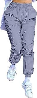 MCYs Frauen Hohe Taille Leuchtende Sport Strumpfhosen HosenLose Casual Lange Hosen Streetwear Fitnesshose