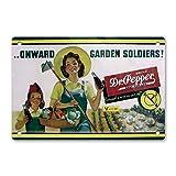 Oddss Retro Drink Dr Pepper Pin-up Girl Cartel de chapas, Lightweight Aluminum Wall Decor Vintage Si...