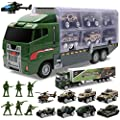 Toddler Toys for Boys,Trucks 10 in 1 Die-cast Military Truck Toy Play Army Vehicle in Carrier Mini Battle Car Toy Set Gifts Toddlers Toys for 3 4 5 6 7 Year Old Boy Kids by ALOTJOY from ALOTJOY