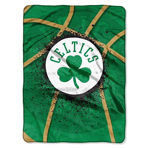 Northwest Boston Celtics NBA Shamrock Logo Raschel Royal Plush 60x80 Twin Size Throw Blanket