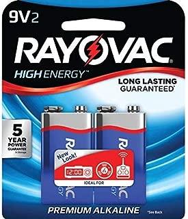 RAYOVAC A1604-2J 9-Volt Alkaline Batteries, 2 pk