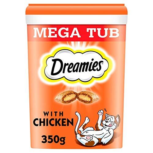 Dreamies Katze Behandelt Mit Huhn Megatub 350G