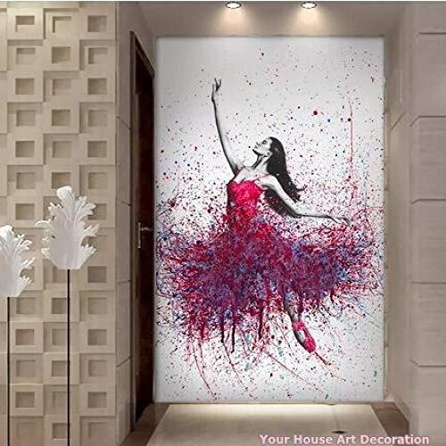 LiMengQi2 Pintura en Lienzo de Chica de Baile, decoración de la Pared del hogar, impresión HD, Elegante Bailarina de Baile, Cuadros modulares, pósteres e Impresiones de Balle (No Frame)