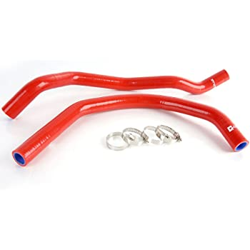 For Yamaha Banshee 350 YFZ350 1987-2006 Silicone Radiator Hose Kits RED