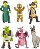 Comansi Shrek Figura impostata con Shrek, Fiona, Asino, Gatto, Drago e omino di marzapane