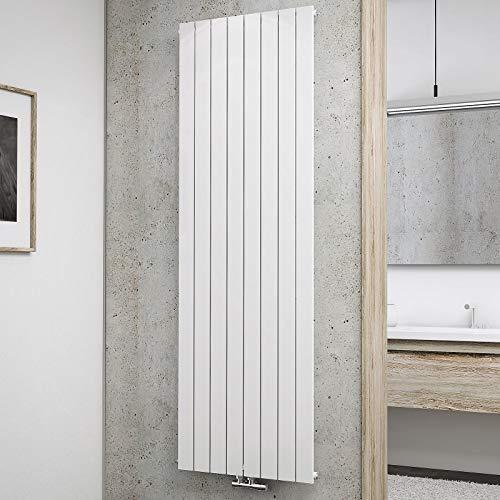 Schulte Design-Heizkörper Aachen, 180 x 61 cm, 1200 Watt Leistung, Mittelanschluss, alpin-weiß, Wohnraum-Heizkörper für Zweirohr-Systeme