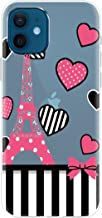 Fashionury Shock Proof Protective Soft Transparent Printed Back Case Cover for Apple iPhone 12 iPhone 12 Pro V075