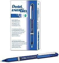 Pentel EnerGel NV Gel Ink Pen, (0.5mm), Fine Point Capped, Needle Tip, Blue Ink, Box of 12 (BLN25-C)