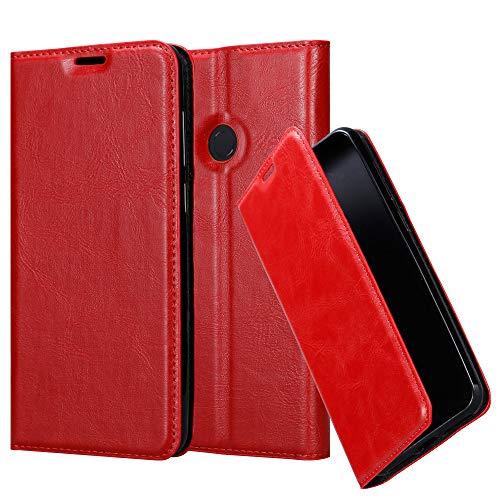 Cadorabo Hülle für Xiaomi Mi Max 3 - Hülle in Apfel ROT – Handyhülle mit Magnetverschluss, Standfunktion & Kartenfach - Hülle Cover Schutzhülle Etui Tasche Book Klapp Style