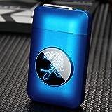 RDJSHOP Caja de Cigarrillos con Encendedores Recargables USB, LED Gráfico Creativo Caja de Almacenamiento de Cigarrillos Eléctrica para Mujeres, Encendedor a Prueba de Viento Sin Llama 2 en 1,Tiger