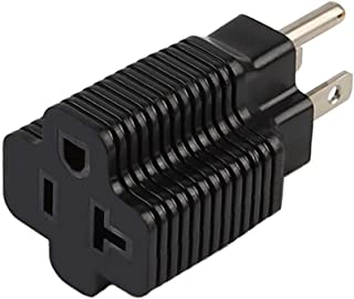 (2PACK) Nema 15 Amp to 20 Amp Plug Adapter ETL Listed NEMA 5-15P to 5-15/20R (Comb 20Amp T Blade) 15 Amp Household Plug to 20 Amp T-Blade AC Power Adapter