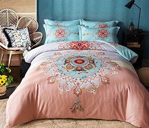 RONGXIE Groen Bloemen high end katoen 4 stks beddengoed set dekbed hoeslaken kussensloop set queen king size 100% katoen slaapkamer set