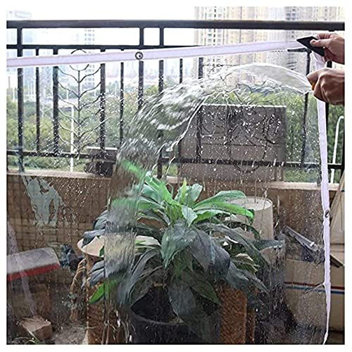 HAI RONG Lonas claras Tarra Impermeable Transparente, Cortina de Lluvia PVC Soft Windshield Mantener Caliente con Ojal para el Dosel del balcón, Las Cortinas del pabellón Exterior, 21ses Lona Premium