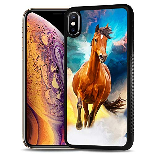 for Samsung Galaxy A10e, Durable Protective Soft Back Case Phone Cover, HOT12326 Horse Painting
