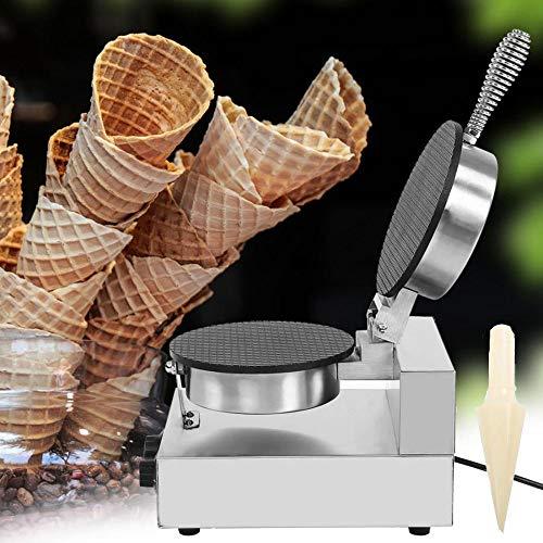 Plancha para Cono de Helado, Mini máquina de gofres de horno Crepe...