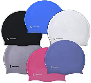 Synergy Silicone Swim Caps 3-Pack