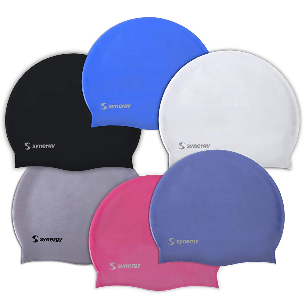 Synergy Silicone Swim 3 Pack Black Silver White