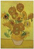 Panorama Póster Van Gogh Girasoles 70x50 cm - Impreso en Papel 250gr - Póster Pared - Láminas para Enmarcar - Cuadros Decoración Salón - Pósters Decorativos - Cuadros Modernos