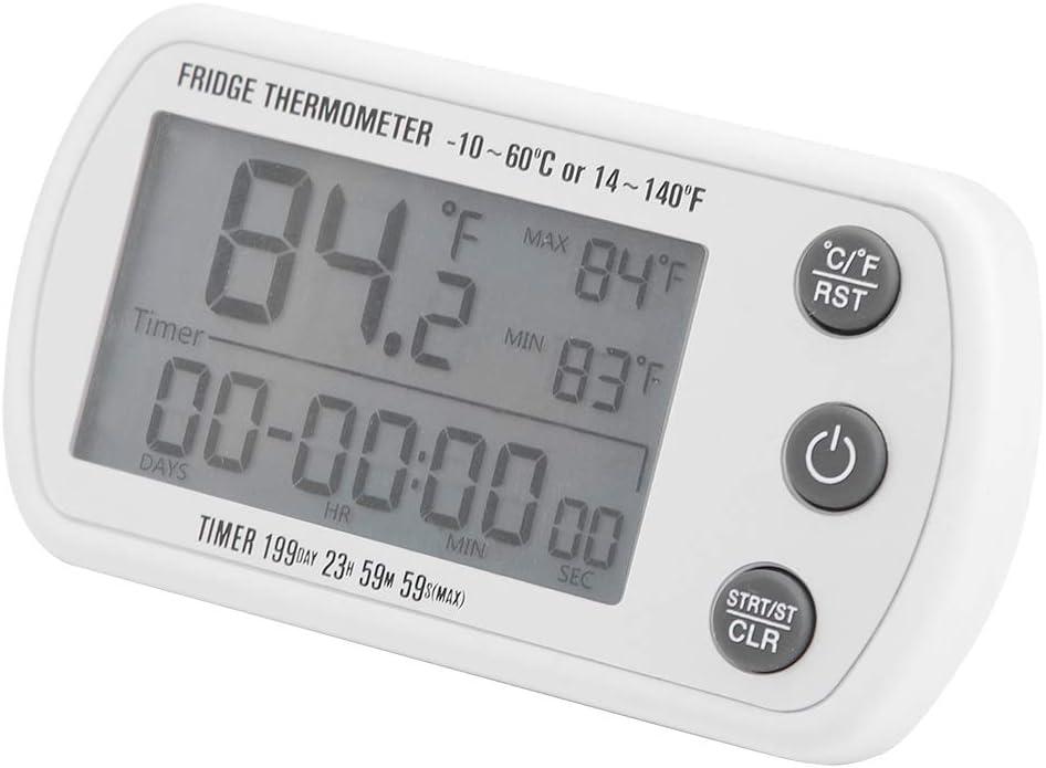 Gmkjh Freezer Thermometer Refrigerator Digital W Led 4 years warranty famous
