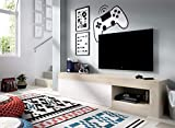 HOMEKIT Mueble TV de 204cm, Tablero melaminizado de Alta Resistencia y de 16mm de Grosor, 204 cm x 48 cm x 42 cm