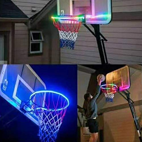 Best Prices! ZHMEZH Basketball hoop LED lights,Solar LED Basketball Hoop Light, Waterproof Basketbal...