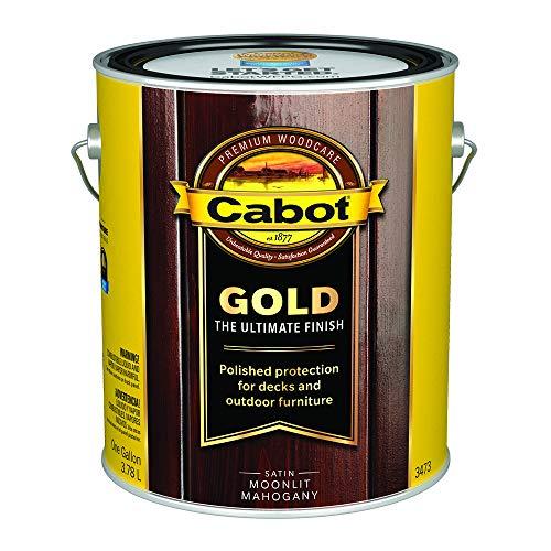 Cabot 140.0003473.007 Gold Finish Exterior Stain, Gallon, Moonlit Mahogany