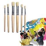 Chenso - Juego de 6 herramientas de dibujo para acuarela, diferentes tamaños, mango de madera, para niños, estudiantes y profesionales