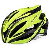 LXJ Casco de ciclismo para hombre, cómodo, transpirable, para bicicleta de carretera, totalmente moldeado, casco de bicicleta, Hombre, verde